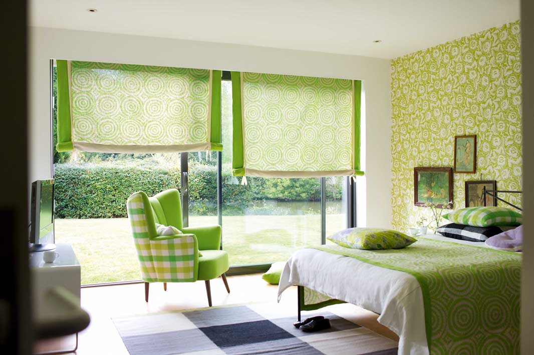Inredning i h rliga milj er pretty home blog for Bedroom interior designs green