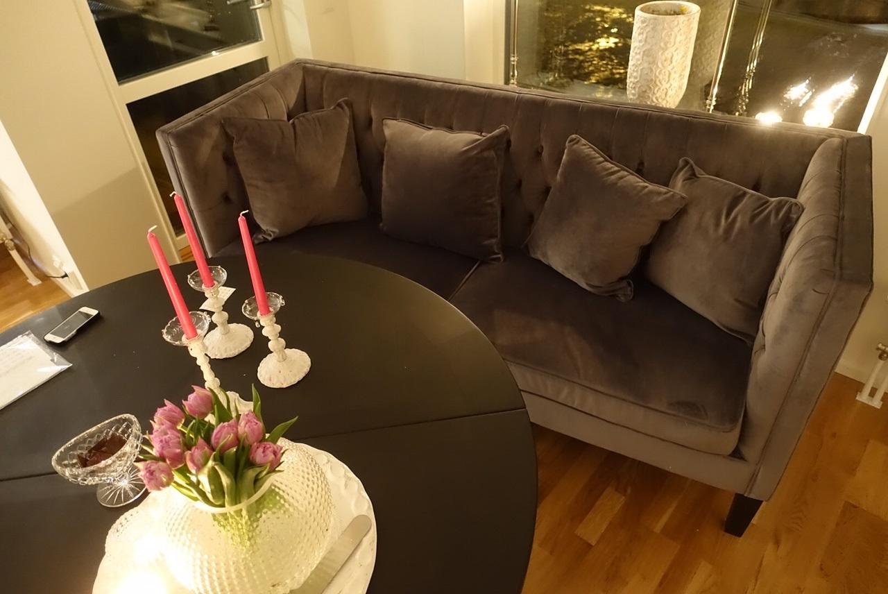 Öppet vardagsrum med kök hemma hos vÃ¥r kund! – pretty home blog
