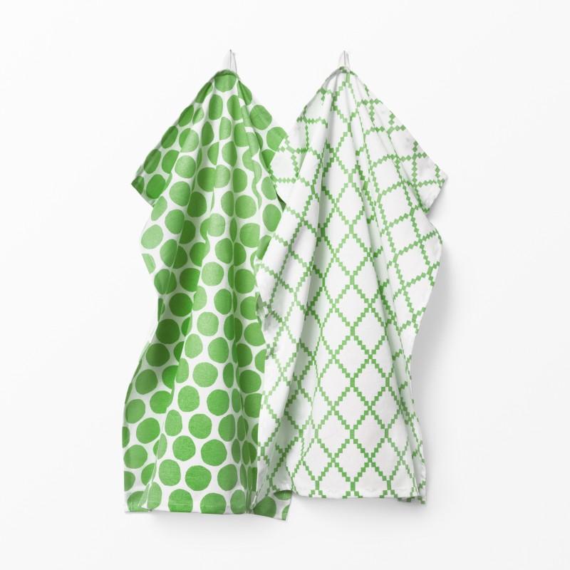 Koekshandduk-Spisa-Lattice-groen-2-pack