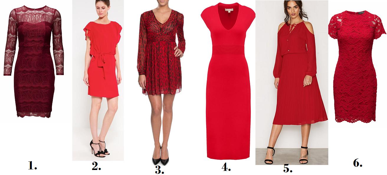 fina röda klänningar