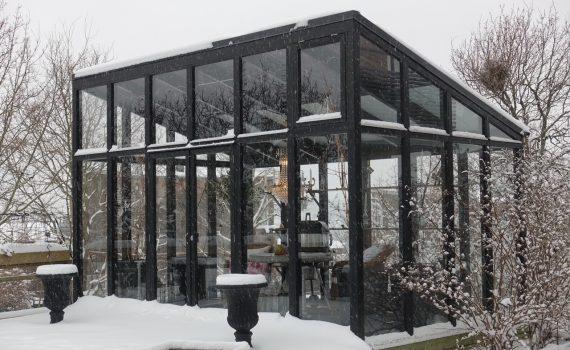 Orangeri i vinterskrud
