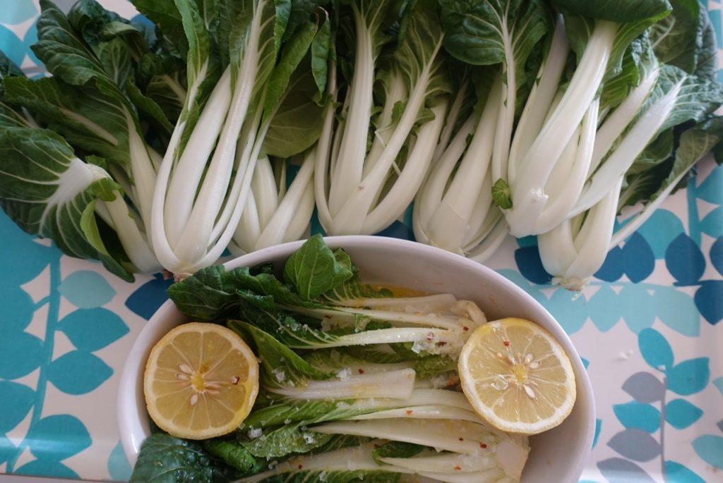 Recept på grillad eller stekt Pak Choi