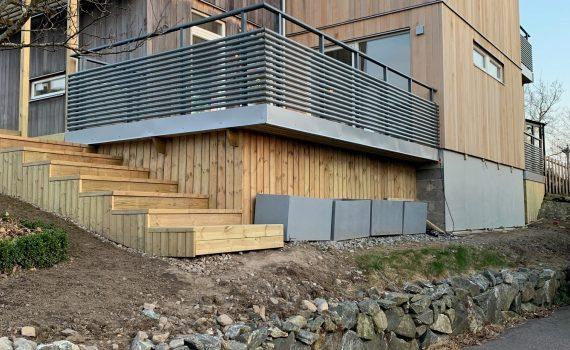 Cementbaserade plattor på fasaden