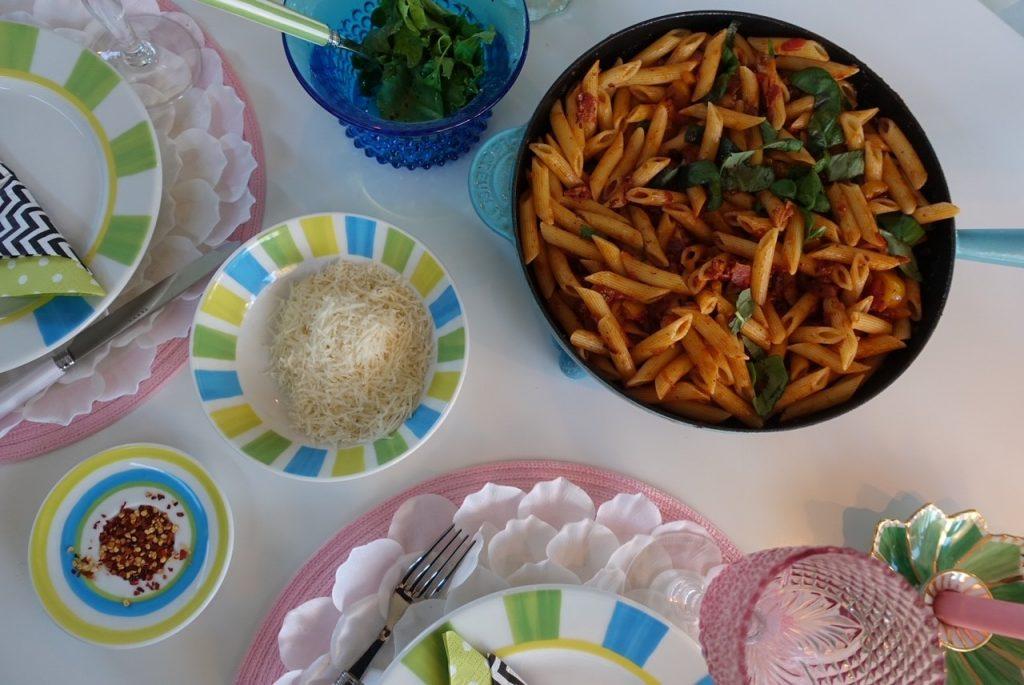 Snabblagad och god pasta