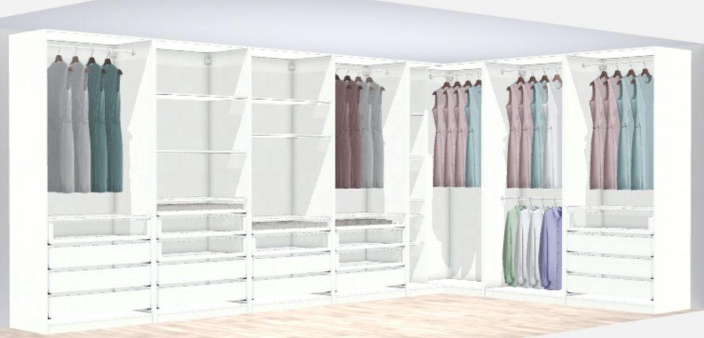 Planering av min nya walk-in-closet