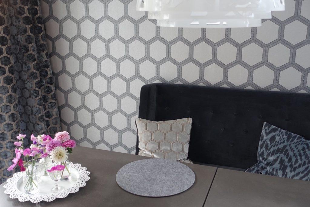 Sneakpeak på mitt matrum med gardiner!