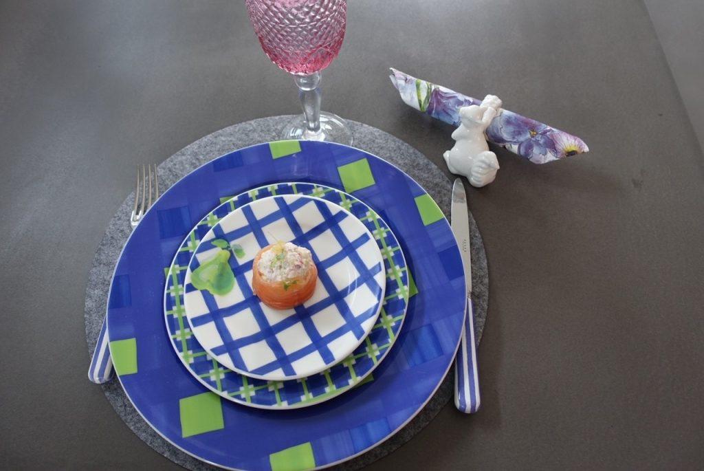 Middagen serveras i matrummet