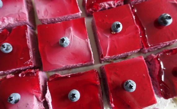 Recept på underbar blåbärscheesecake med gele!