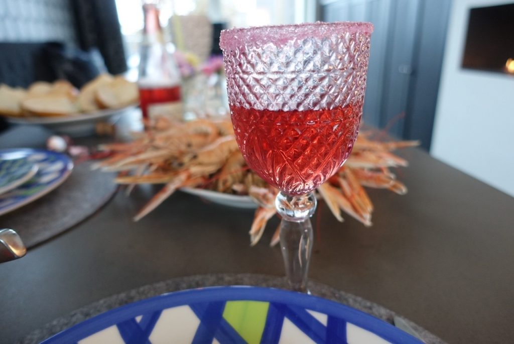 Kräftor och fredagsmys med champagne!